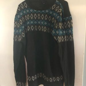 Forever21 blue & gray argyle patterned sweater